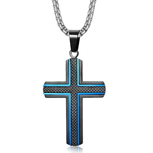 Holizaly Men's Cross Necklace 316L …