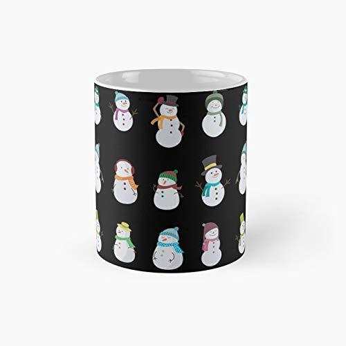 Taza clásica con diseño de muñeco de nieve de Navidad, el mejor regalo, tazas de café divertidas, 11 onzas