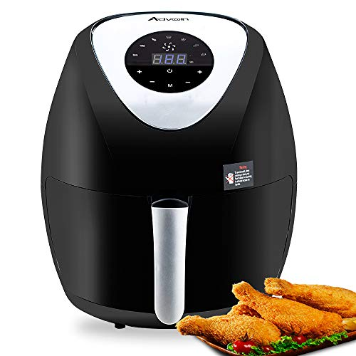 Advwin Air Fryer, 6.5L 8 in 1 Electric Hot Oven & Oilless Cooker for Roasting, 1-30 Minutes Cooking( 36 * 36 * 41 cm, Black )