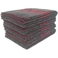 Sanz Marti - Mantas Mudanzas 140x200 gruesas Fabricadas en España - pack 4 mantas - roja