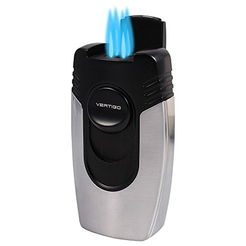 Vertigo Big Buddha Quad Flame Table Lighter (Chrome)