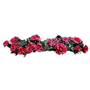 Fuchsia Swag 30″ Silk Wedding Flowers Roses Hydrangea Arch Chuppah Centerpieces, for Wedding Supplies
