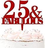 Decoración para tartas de plástico acrílico personalizable para cumpleaños, para cualquier edad, para hombres, mujeres, 20 colores, color rojo oscuro