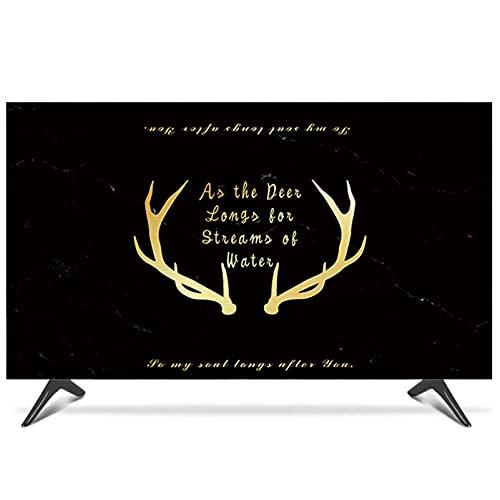 QYQS Cubiertas de TV En Interiores, Tela A Prueba de Polvo TV TV TV Paño, TV Universal Cubiertas de 19 A 65 Pulgadas, Admitimos Personalización(Size:47-50in/W116cmxH67cm)