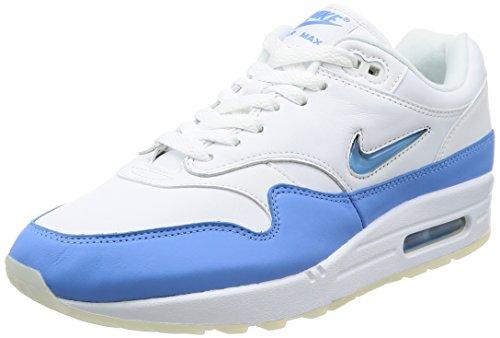 Nike Air Max 1 Premium SC, Chaussures de Gymnastique Homme, Bleu (White/University Blue/University Blue), 44.5 EU