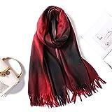 HAZVPO Frauen Schal Mode Plaid Weibliche Winter Kaschmir Schals Dame Warm Neck Bandana Decke Schals Wraps Hijab -