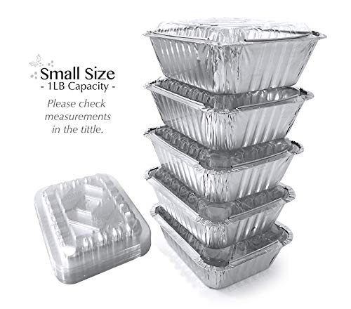tin foil containers with lids - 7