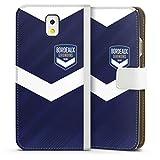 DeinDesign Étui Compatible avec Samsung Galaxy Note 3 Étui Folio Étui magnétique FC Girondins de...