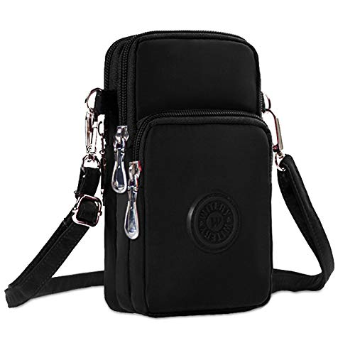 KXF Multifunctional 3 Layers Waterproof Nylon Wrist Bag Zipper Phone Pouch...