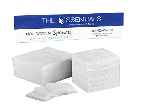 Essentials 3D Dental Non-Woven 2x2 Gauze and Bombing new work Sterile Non Ply 4 Max 74% OFF