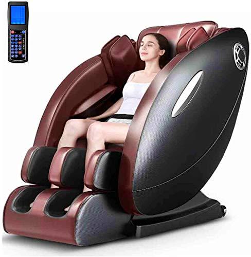 Sillas De Masaje Cuerpo Completo Y Reclinable, 8D silla de masaje de gravedad cero eléctrica de múltiples funciones Sofá con climatizada Terapia y LCD inteligente de pantalla grande de control remoto,