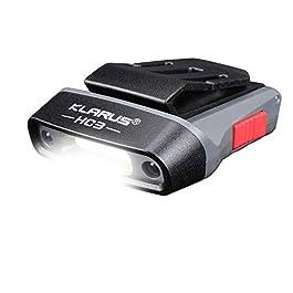 klarus HC3 Clip Rechargeable LED Phare Rotatif Casquette à Bille visière lumière Mains Libres avec lumière Rouge pour la…