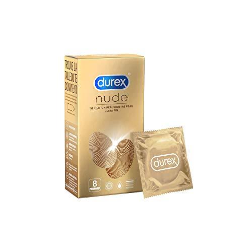 Durex - Préservatifs Nude - 8 Préservatifs Sensation Peau Contre Peau