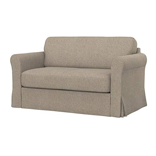 Soferia Replacement Cover for IKEA HAGALUND Sofa-Bed, Fabric Stewart Beige Mono