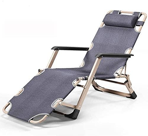 MUZIDP Silla reclinable al aire libre de gravedad cero sillas de camping, tumbona de jardín de gravedad cero, tumbona ergonómica, silla de salón de terraza al aire libre