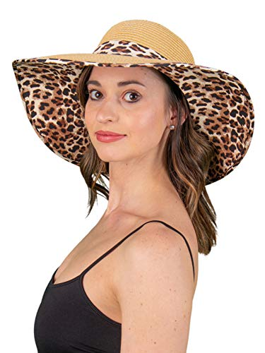 Fabric Brim Sun Hat -...