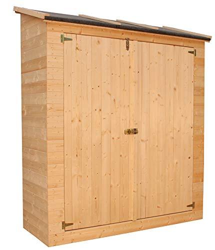 TIMBELA M349 Gartenhaus aus Holz im Freien - Kiefern- / Fichtenschuppen - H187x 171 x 69 cm / 0,86 m2