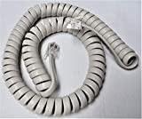 Off White 9' Ft Handset Cord for NEC Phone DTP DTU DTR DTH DTL ITH ITL ITR ETJ ETW 8 8D 12D 16 16D 16DC 16DD 24D 24DA 32D 1 2 3 SW (Soft) Dterm Series E i iii Curly Coil by DIY-BizPhones