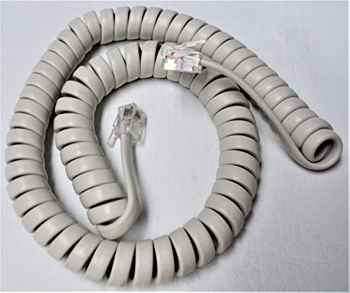 Off White 9' Ft Handset Cord for Panasonic Phone KX T2000 T7000 TS TSC Series T7020 T7030 T7050 T2335 T2355 T2365 T105 T108 T208 T500 TSC7 TSC11 TSC14 W Curly Coil by DIY-BizPhones