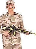 Funidelia | Metralleta de Camuflaje para Hombre y Mujer ▶ Militar, Soldado, Profesiones, Camuflaje - Color: Negro, Accesorio para Disfraz - Divertidos Disfraces y complementos