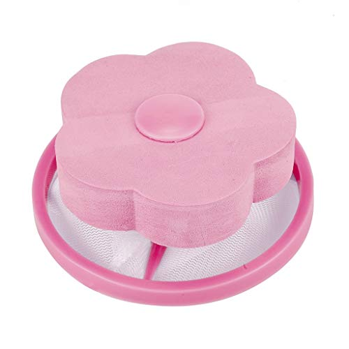 Bluestercool 2PCS Filtre à Charpie Réutilisable Filtre Anti Poil Machine à Laver Cheveux pour Enlever les Débris et Réduire les Filtres De Remplissage (2PCS, Bleu+Rose)