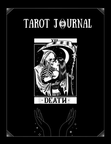 Tarot Journal: Blackcraft Vintage Death Tarot 13 Shirt The Reaperjournal With Notebook Ruled Lined Notebook Pages For Tarot Magic