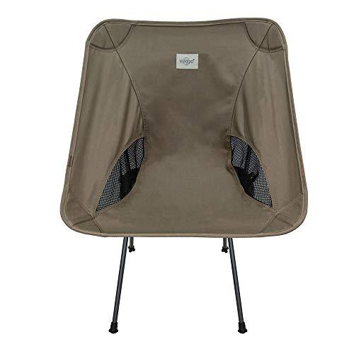 Viaggio+ アウトドア チェア イス 椅子 折りたたみ 背もたれ 軽量 コンパクト キャンプ グランピング (モカ)