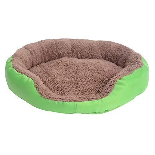Haustierkorb aus hochwertigem Plüschstoff in 4 3 Größen – waschbares & kratzfestes Haus für Hunde und Katzen (Style 2, M)
