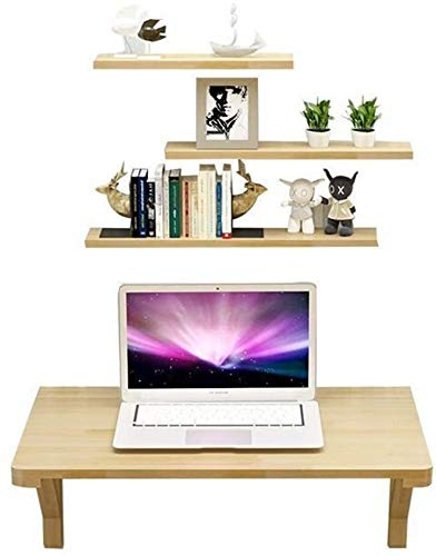Solid Houten Muur Eettafel Against The Wall Computer Desk Study Table Wall Opknoping Table Muur Bureau Opknoping Table opvouwbare leilims (Color : Beige)