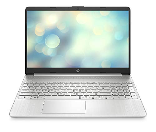 HP 15s-eq0245ng (15,6 Zoll / FHD) Laptop (AMD Ryzen 5 3500U, 8GB DDR4 RAM, 512GB SSD, AMD Radeon Vega Grafik) Windows 10 Home, Silber