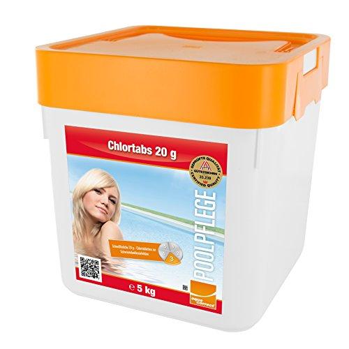 Steinbach Poolchemie Chlortabs, 20g, 5 kg, Desinfektion, 0757205TD02