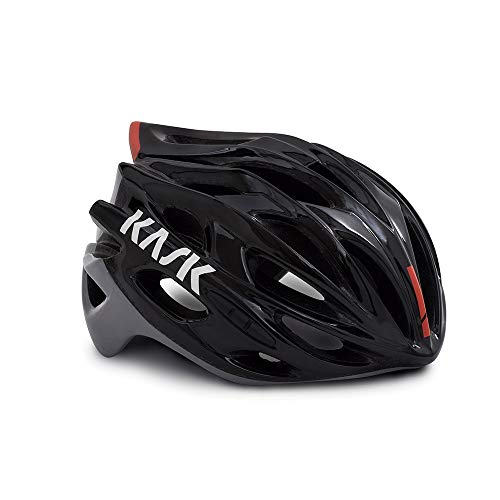 Kask Mojito X - Casco de Carretera Unisex, Unisex Adulto, Color Black/Ash/Red, tamaño Large