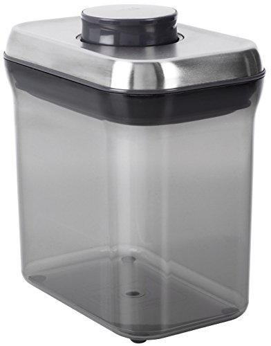 OXO Good Grips Airtight Coffee POP Container (1.5 Qt),Silver/Grey