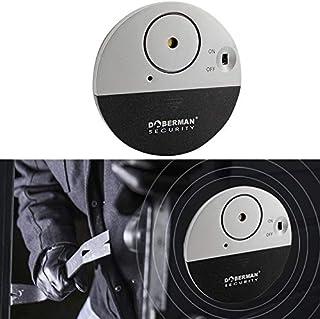 QGT Home Security DOBERMAN SE-0106 Ultra-slim Round Door/Window Alert Detect Vibration Sensor Alarm for Home Alarms Security