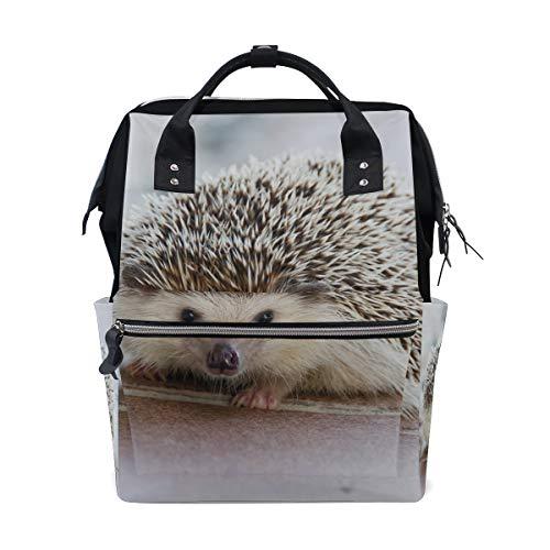 Sac à dos à langer Hedgehog mignon animal pour maman sac à langer grande capacité sac de bébé femme sac à dos de voyage école ordinateur portable sac de randonnée