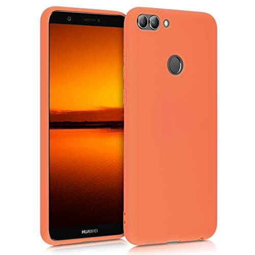 kwmobile Cover Compatibile con Huawei Enjoy 7S   P Smart (2017) - Custodia in Silicone TPU - Backcover Protezione Posteriore- Papaya