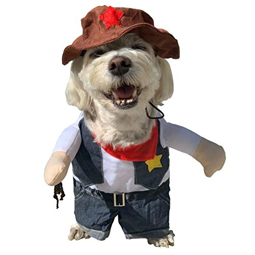 Care4U Pet Dog Cat Halloween Costumes,Party Christmas Special Events Costume,Funny Cowboy Jacket...