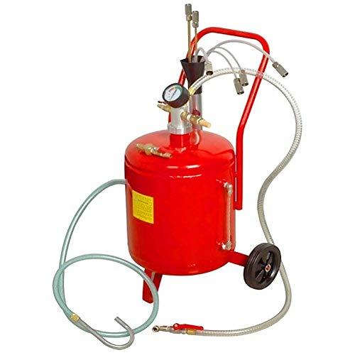 Aspiradora y extractora de aceite 24 litros neumatica para cambios de aceite de coche, camion, tractor, etc