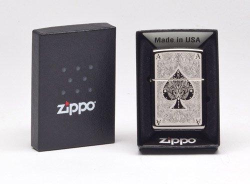 Zippo 28323-150 ACE Filigree Feuerzeug, Schwarz, One Size