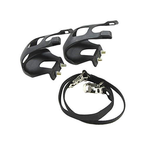 1 Paar Zehenklammern, Fahrradpedale mit Clips und Riemen, Fahrradpedal-Zehenklammern, verstellbarer Pedaladapter, Pedale, Zehenklammern, Käfig für Heimtrainer, Spinnrad und Outdoor-Fahrräder