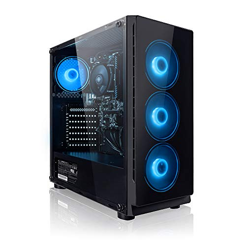 PC Gaming - Megaport Ordenador Gaming PC AMD Athlon 3000G 2X 3.50GHz • Windows 10 • AMD Radeon Vega 3 • 8GB DDR4 • 1TB • USB3.0 Desktop pc • 1TB Disco Duro • Ordenador de sobremesa