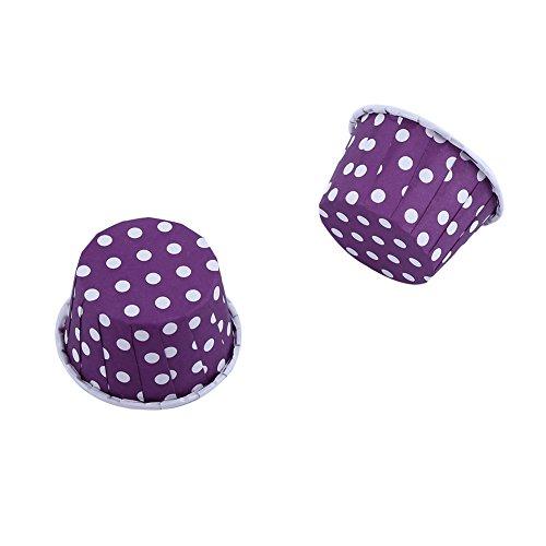 Yosoo 100er Backen Tassen Mini Papier Kuchen Cupcake Wrappers Fällen Halter für Muffin Cups Liner Cupcake Papier Backen Farbe für Halloween Hochzeit Geburtstag Party Dekoration Allerheiligen(Purple)
