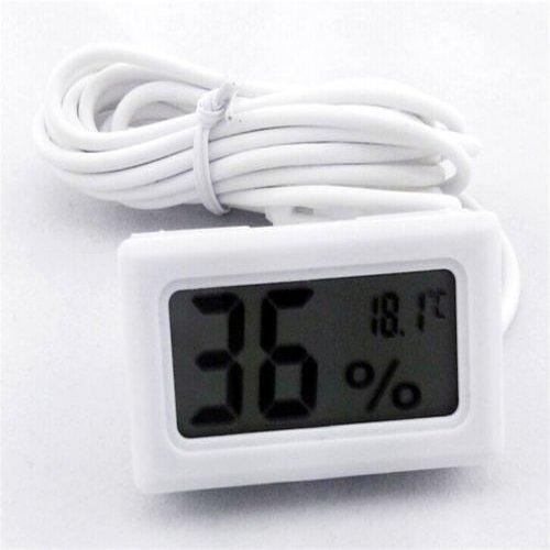 Kicode Noir LCD Nouvelle Haute qualité numérique intégré Thermomètre Hygromètre Compteur sonde pour Incubateur Volaille Aquarium Serre Reptile