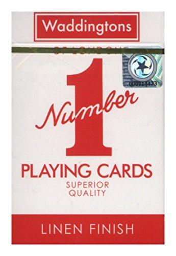 Original Waddingtons rote und Blaue Spielkarten.