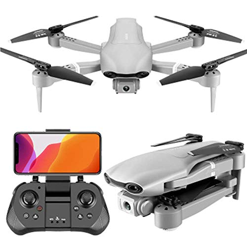 JJDSN WiFi Drone with 1080P HD Camera,Voice Control, Wide-Angle Live Video RC Quadcopter with Altitude Hold, with Gravity Senso, One Key Take Off/Landing, Silver 1080P