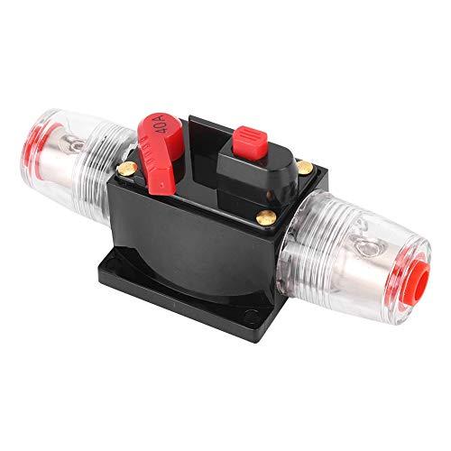 EBTOOLS Disyuntor de A_udio para automóvil, Amplificador de A_udio para camión de automóvil Restablecer Disyuntor Disyuntor Portafusibles Accesorio para automóvil DC 12-24V(40A)