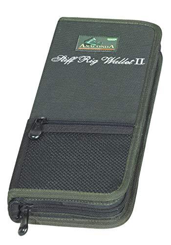Anaconda Unisex– Erwachsene Stiff Rig Wallet 2 Vorfachtasche, Schwarz-Grau-Grün, 35x14x5,5