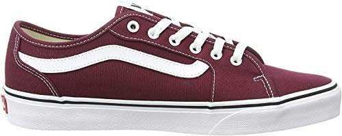 Vans Herren MN Filmore Decon Sneaker, Rot ((Canvas) Port Royale/White 8j7), 45 EU