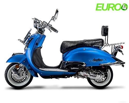 Retro Roller Motorroller Mofa EasyCrusier 49 50 ccm 25 KmH - blau BASIC
