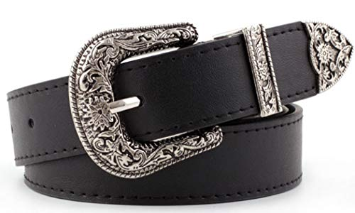 Vintage Waist-Belts with Hollow Out Flower Buckle 1